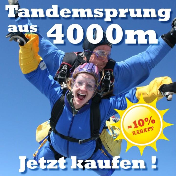 Tandemspringen aus 4000 Meter